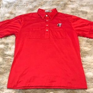 Vintage Shirts - VINTAGE TEXAS TECH WESTERN POLO
